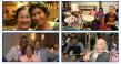 Four collage images of groups of smiling seniors participating in DCOA activities