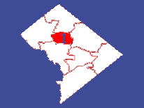 Outline map featuring Ward 1