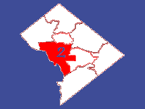 Outline map featuring Ward 2