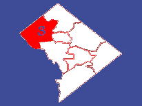 Outline map featuring Ward 3