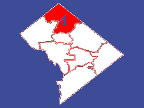 Outline map featuring Ward 4