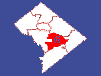 Outline map featuring Ward 6