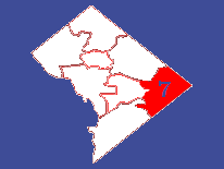 Outline map featuring Ward 7