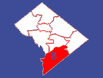 Outline map featuring Ward 8