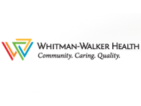 Whitman-Walker Clinic logo with text Community, Caring, Quality