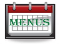 text Menus across a Calendar