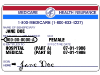Jane Doe Medicare Card