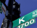 closeup of a DC street pole showing 1700 block of K St NW